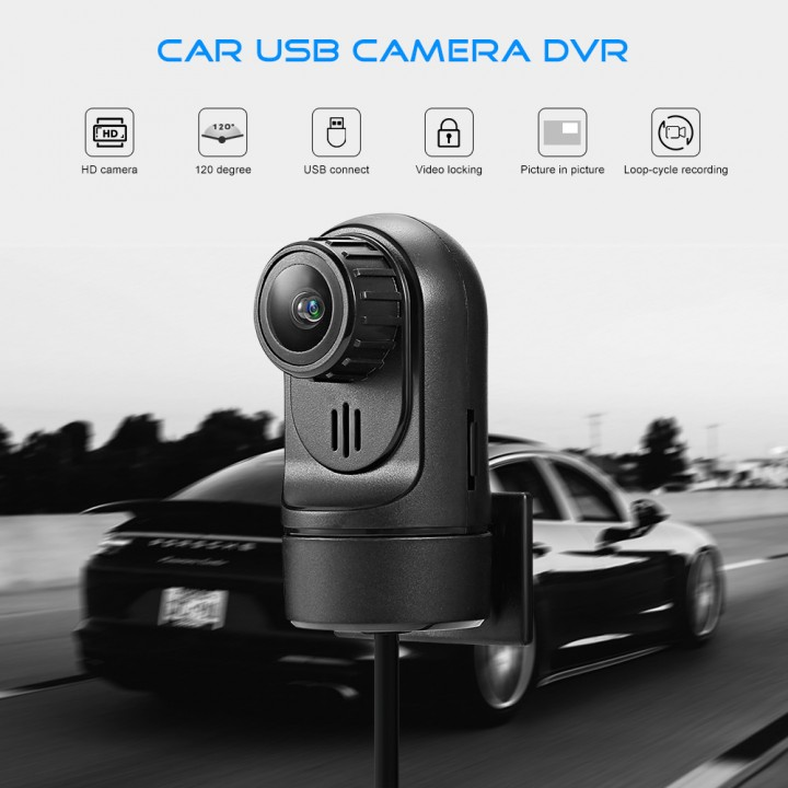 STAPON T7 Car USB Camera DVR Video Recorder with MIC for Android System