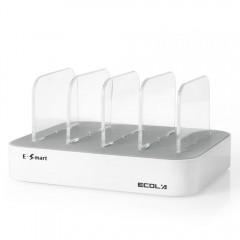 ECOLA 4 Ports USB Intelligent High-speed Charging  WHITE