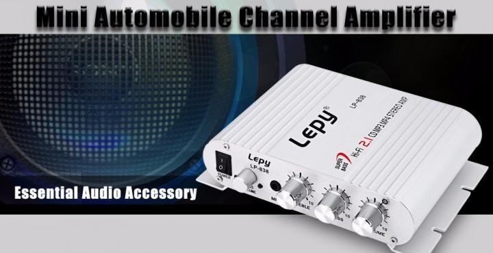 Lepy LP - 838 Automobile Channel Amplifier Stereo Subwoofer Audio Accessory
