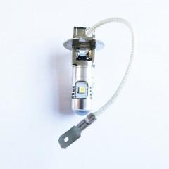 1PC H3 25W 5LEDS 3030 SMD LED Fog Lights Auto Car  SILVER SHELL WHITE LIGHT