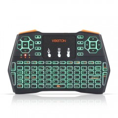 VIBOTON i8 Plus 2.4G Wireless Keyboard Fly Air Mou BLACK 3-COLOR BACKLIGHT