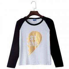 Family Parent-child Loaded Mother Round Collar T-S COLORMIX S