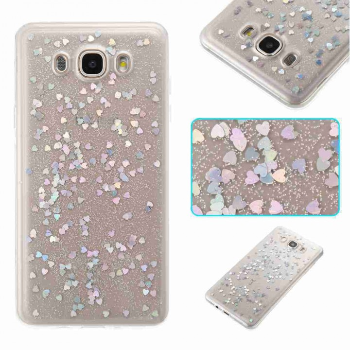 Love Heart Dijiao Tpu Phone Case for Samsung Galax SILVER