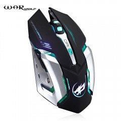 Warwolf T1 Wireless Rechargeable Mouse with Adjust BLACK