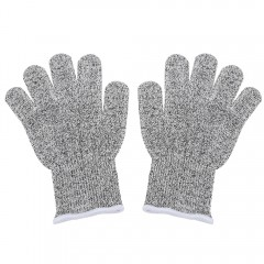 Pair of Safety Gloves Cut-resistant Hands Protecti LIGHT GRAY M