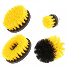 4PCS Electric Drill Cleaning Nylon Brush YELLOW