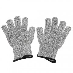 Pair of Safety Gloves Cut-resistant Hands Protecti DARK GRAY M