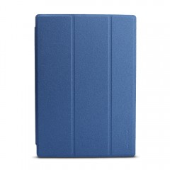 Slim-Fit Folio Case Cover with Back Case for Tecla BLUE