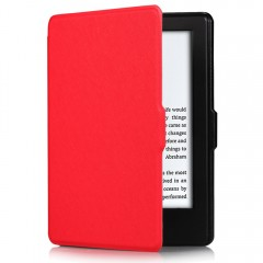 558 PU Leather Protective Cover with Auto Sleep Wa WATERMELON RED