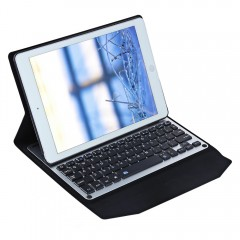 Ultra Thin LED Wireless Bluetooth Keyboard Case fo BLACK