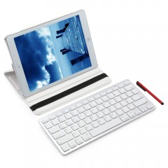 Stylus Pen Detachable Wireless Bluetooth Keyboard  WHITE