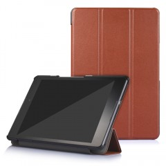 PU Leather Auto Sleep Protective Cover for ASUS Ze BROWN
