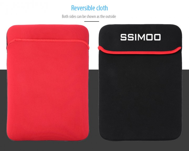 SSIMOO Shockproof Double-faced Foam Fabric Laptop Bag for MacBook / Surface Book 13.6 inch