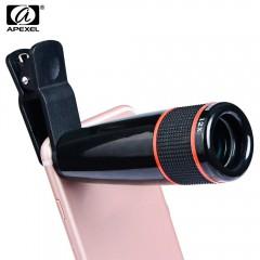APEXEL APL - 12XSJ 12X Telephoto Zoom Lens Shutter BLACK