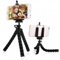 Portable Flexible Octopus Style Tripod Stand Holde BLACK