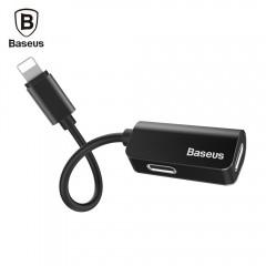 Baseus L37 Male to Dual Female 8 Pin Audio Adapter BLACK