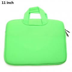 11 Inch Laptop Sleeve Bag Protective Zipper Pouch  GREEN