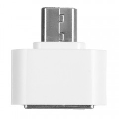 Mini Micro USB Male To USB 2.0 Female OTG Adapter WHITE