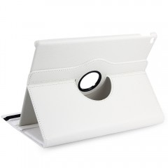 360 Degree Rotation Lychee Texture Leather Cover C WHITE