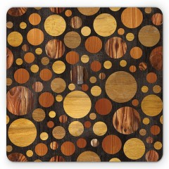 Non Slip Rubber Dot Wood Gaming Soft Mouse Pad MULTI