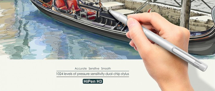 Original Chuwi HiPen H3 Textured Metal Dual-chip Stylus for Chuwi Hi13