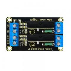 Keyestudio 2-channel Solid State Relay Module Boar BLACK