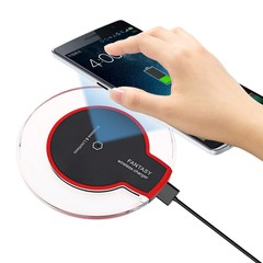Qi Enabled Devices Transparent Border Wireless Cha BLACK