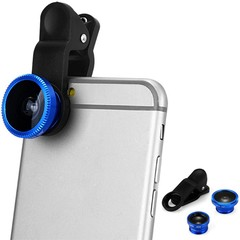 LP 3001 Fish Eye Wide Angle Macro 3 in 1 Universal BLUE