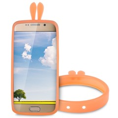 Rabbit Ears Shape Silicone Bumper Phone Case Lumin YOLK YELLOW