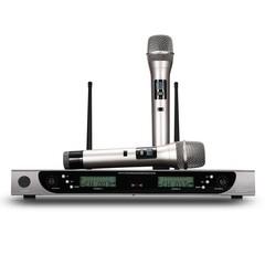 WEISRE U - 8008 Wireless UHF Microphone System Han BLACK US PLUG