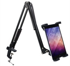 Practical Telescopic Mobile Rack Shelf Tablet PC S BLACK