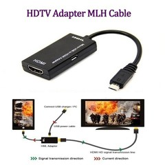 gocomma MHL Adapter Micro USB to HDMI Cable for Phone Tablet BLACK