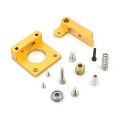 DIY MK7 MK8 i3 Extruder Aluminum Block Kit for 3D  GOLDEN
