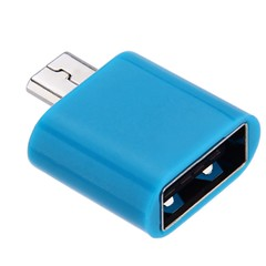 Micro USB OTG Data Transfer and Charging Adapter BLUE