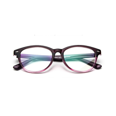 Wilkab 2019 fashion new retro rice nail glasses frame for Male and female universal tide Joker adorn Purple