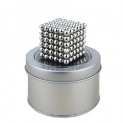 3mm Magic Magnet Balls 216pcs Strong Magnetic Puzzle Game For Stress Relief silver