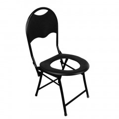 Portable Strengthened Foldable Toilet Chair with Backrest Camping Fishing Mate