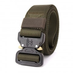 Adjustable Nylon Waist Belt Tactical Belt Multifunction Outdoor Training Belt green default