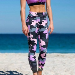 Digital Camouflage Print Yoga Pants Quick Dry Skinny Women Fitness Leggings as picture M