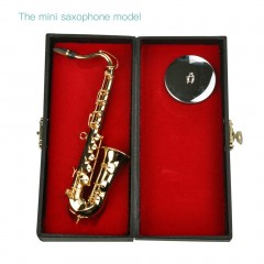 Mini Saxophone Musical Instruments Goldplated Miniature Saxophone Home Decor