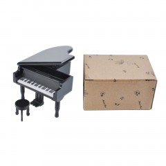 Wooden Music Box Creative Piano Musical Box Home Decor Musical Instruments