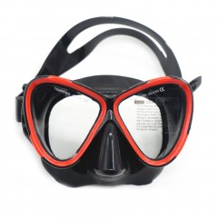 AM-200 Adult Silicone Diving Goggles Mask Double Layer Waterproof Anti-fog