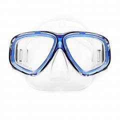 AM-308 Adult Double Layer Waterproof Anti-fog Silicone Diving Mask Goggles