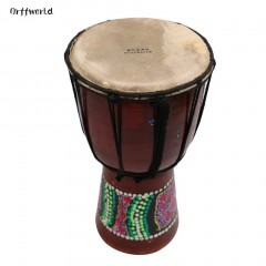 Orff world Djembe Drummer Percussion 6 Wooden African Style Hand Drum FZG-6M