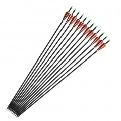12pcs Spine 400 Carbon Arrow Archery For Compound Recurve Bow Hunting Shooting as picture default