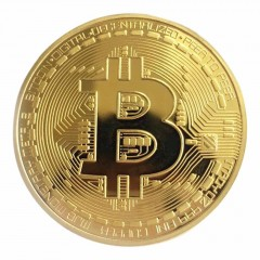 Golden/Silver Bitcoin Coin Bronze Physical Bitcoins Coin Collectible BTC Coin