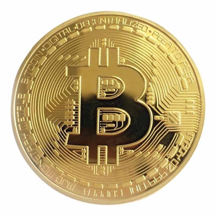 Golden/Silver Bitcoin Coin Bronze Physical Bitcoins Coin Collectible BTC Coin