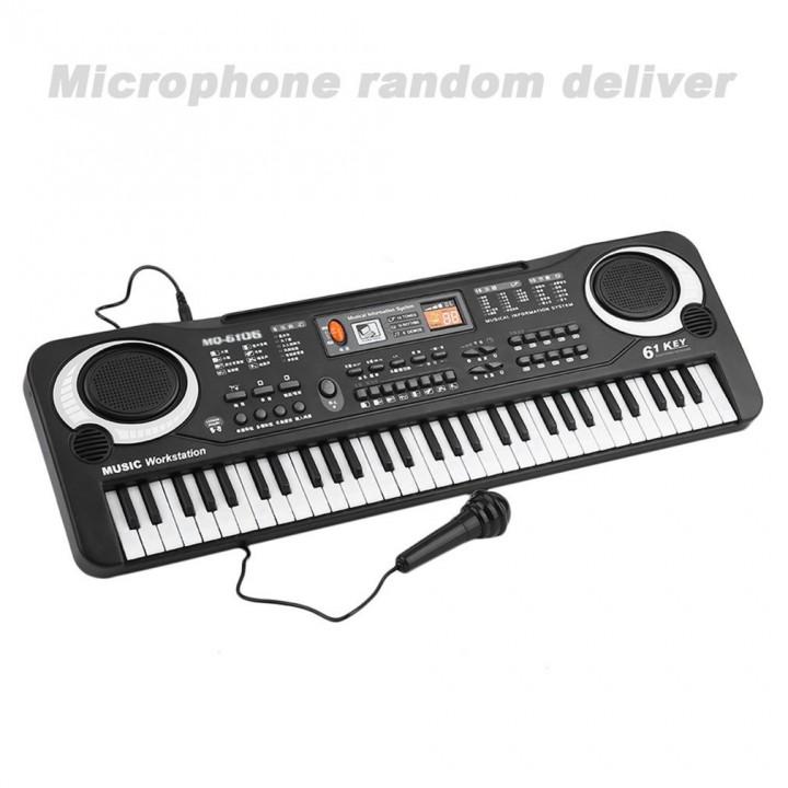 61 Key Kids Electronic Digital Keyboard Electric Organ With Random Microphone