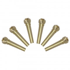 6 Pcs Solid Brass Bridge Pins For Acoustic Guitar Strings Accessories DIY