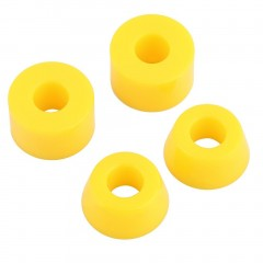 4pcs 55D Hard PU Bushings Shockproof For Skateboard Parts Outdoor Sports yellow